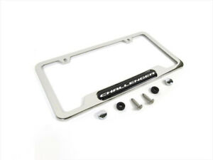 2008 2018 Dodge Challenger Chrome License Plate Frame Oem Mopar New 82214923