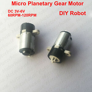 Mini 3v 6v 120rpm Dc Motor Coreless Planetary Gear Reducer Micro Motor Diy Robot