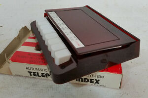 Vintage 80s Piano Style Telephone Directory Organizer Office Desk Nos Index