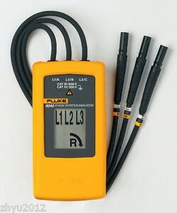 1pcs Fluke 9040 Digital Phase Rotation Indicator Tester Meters