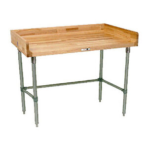 John Boos Dnb17 Wood Top Work Table 96 W X 36 D