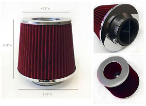 Red 2 75 70mm Cold Air Intake Cone Filter Replacement For Audi A3 A4 A5 A6 Tt
