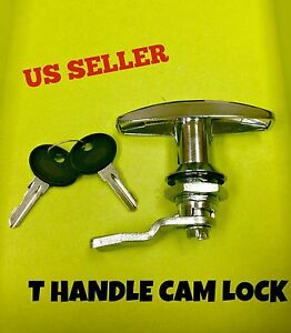 Lot Of 5 T Handle Latch Key Cam Lock Keyed Alike Locker Cabinet 110 1 1 01 42