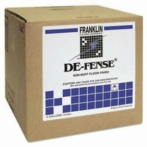 De fense Non buff Floor Wax 5 Gallon Cube frk F135025