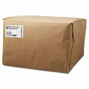 1 6 52 Lb Brown Kraft Paper Grocery Bags 500 Bags bag Sk1652