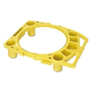 Rubbermaid 9w87 Rim Caddy For 44 Gallon Brute Containers Yellow rcp9w87yel
