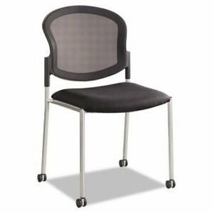 Safco Diaz Guest Chair Mesh Back fabric Seat Black saf5009bl