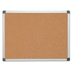 Mastervision Value Cork Bulletin Board 36 X 48 Aluminum Frame bvcca051170
