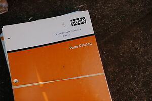 Case Maxi sneaker Series B Trencher Parts Manual Book Catalog Spare Ditcher Plow