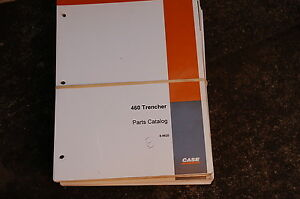Case 460 Trencher Parts Manual Book Catalog Spare Ditcher Plow Tractor 1994 List