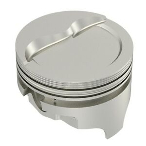 Icon Pistons ic731ktd 040 Step Dish Forged Pistons Rings Sb Chevy 350