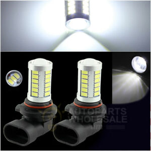 2 X 6000k White High Power 33smd Projector H10 9145 Led Bulbs Driving Fog Light