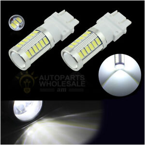 2 X 33smd White 6000k 3157 T25 5730chip Daytime Running Lights Led Bulbs Drl