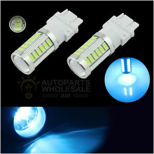 2 X Ice Blue 3157 T25 33smd High Power Daytime Running Lights Led Bulbs Drl Lamp