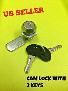 Lot Of 15 Cam Lock File Cabinet Mailbox Desk Drawer Cupboard Locker 2 Keys 90