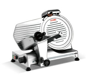 Kws Commercial 320w Electric Meat Slicer 10 Triple Safety Locks Anodized Body