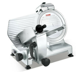 Kws Commercial 420w Electric Meat Slicer 12 Triple Safety Locks Anodized Body