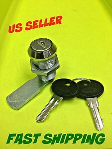 Lot Of 10 Cam Lock Keyed Alike Cabinet Mailbox Cupboard Chrome 050 30 01 50