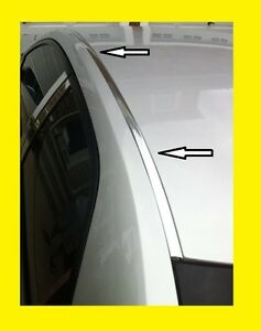 For 2005 2013 Toyota Yaris Chrome Roof Top Trim Molding Kit