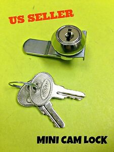 Lot Of 100 90 Mini Cam Lock Cabinet Mailbox Desk Drawer Cupboard Locker 2 Keys