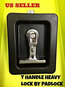Lot Of 5 Black T Handle Heavy Duty Lock By Padlock For Electricity Station Truck