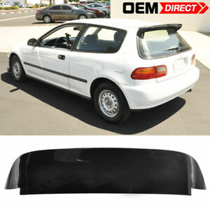 92 95 Honda Civic Eg 3dr Hatchback Spoon Sp Style Abs Roof Spoiler Gloss Black