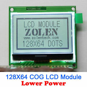 12864 128x64 Graphic Cog Lcd Module Display Screen Lcm Build in St7565p
