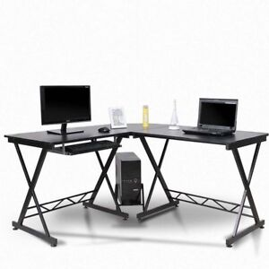 L shape Corner Computer Office Desk Pc Laptop Table Workstation Home Office