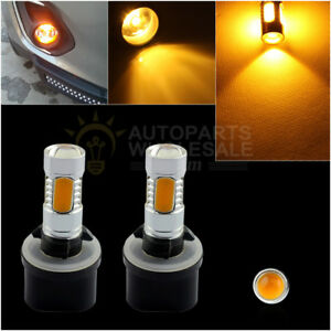 2 880 899 Yellow Amber Cob Led Projector Lens Bulbs Car Driving Fog Light Lamp