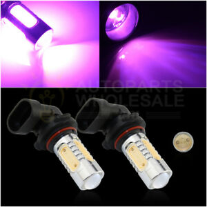 2 9005 Purple Pink Hb3 7 5w Cob Led Bulbs For Car Daytime Runing Light