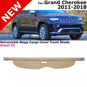 For Jeep Grand Cherokee 11 16 Retractable Beige Cargo Cover Trunk Luggage Shade