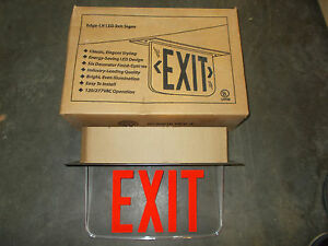 Hubbell Lighting Lecsrxze xk Led Emergency Exit Sign Single double Side