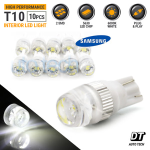 10pcs T10 Wedge Samsung High Power 2w Led Light Bulbs Xenon White 192 168 194