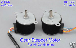 2pcs Dc 12v 4 phase 5 wire Gear Stepper Motor Permanent Magnet Stepping Motor
