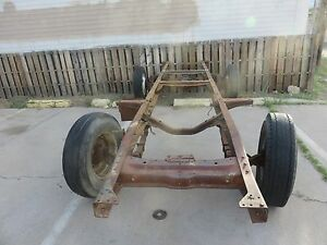1953 Ford F350 1 Ton Dully Rolling Chassis Drive Train Part S And Papers