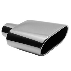 5 5 Outlet X 2 25 Inlet X 9 Long Stainless Steel Oval Rolled Edge Exhaust Tip