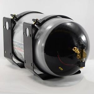 Cng Tank 57l Type 2 3600 Psi Natural Gas 1 18 unf Rotorex Electric With Bracket