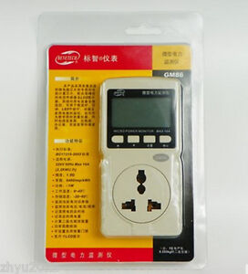 1pcs Gm86 Digital Micro Power Monitor Power Volt Energy Monitor Meter Tester Eu