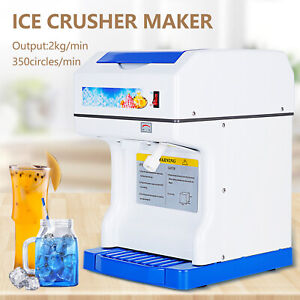 Commercial Snow Cone Maker Ice Shaver Crusher Shaving Process Machine Device