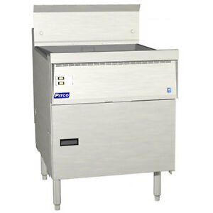 Pitco Fbg18 Flat Bottom Gas Fryer 42 65 Lb Capacity