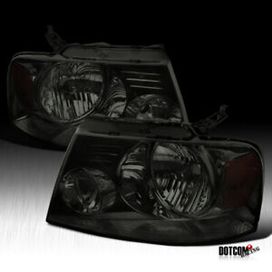 For 2004 2008 Ford F150 2006 2008 Lincoln Mark Lt Pickup Smoke Headlights Pair