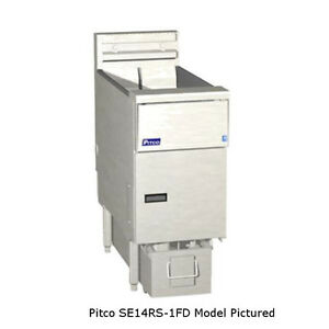 Pitco Se14rs 2fd Solstice Electric Fryer With Filter Two 50 Lb Capacity Tanks