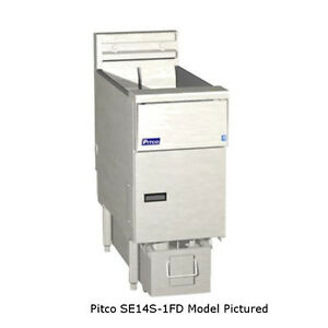 Pitco Se14s 3fd Solstice Electric Fryer With Filter Three 50 Lb Capacity Tanks