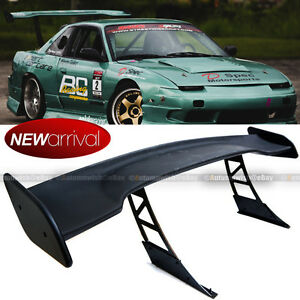 For Jdm 57 Gt Style Down Force Trunk Spoiler Wing Matte Black