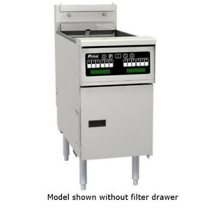 Pitco Selv184 c fd Reduced Oil Volume Electric Fryer With Filter Drawer 40 Lb