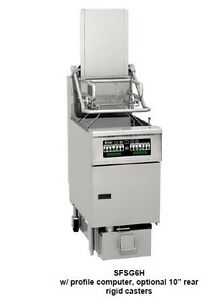 Pitco Sfsg6h Gas Rack Fryer With Filter Drawer 85 Lb Oil Capacity