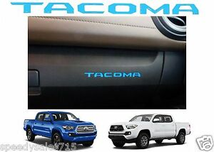 2 Blue Glove Box Vinyl Dashboard Letters Inserts 2016 2019 Toyota Tacoma New