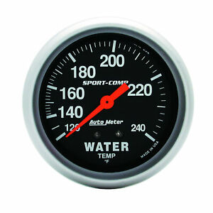Auto Meter 3432 Water Temperature Gauge 2 5 8 120 240 Degrees Mechanical
