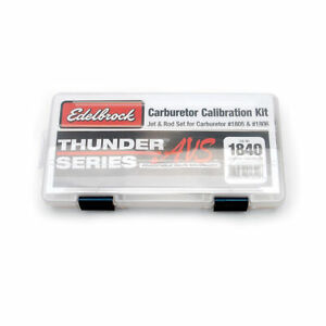 Edelbrock 1840 Calibration Kit Jet Rod Kit For 1805amp1806
