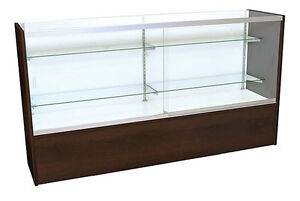 Front Opening Loading Store Display Showcase Choco Cherry 48 Inch Assembled New